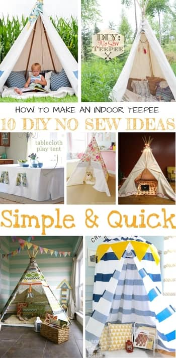 HOW TO MAKE AN INDOOR TEEPEE